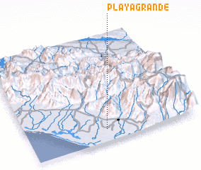 3d view of Playa Grande