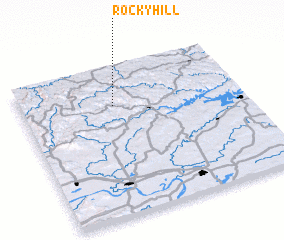 3d view of Rocky Hill