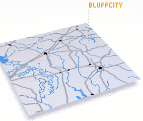 3d view of Bluff City