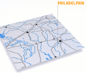 3d view of Philadelphia
