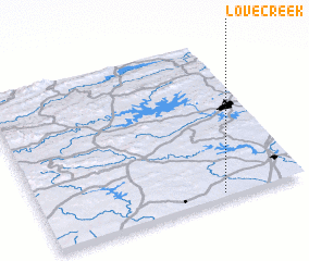 3d view of Love Creek