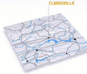 3d view of Clarksville