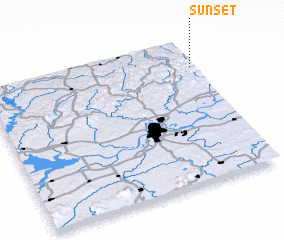 3d view of Sunset