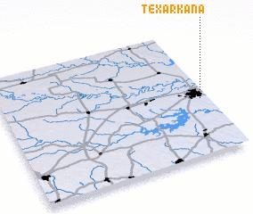 Texarkana (United States - USA) map - nona.net