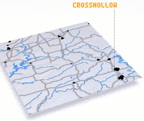 3d view of Cross Hollow