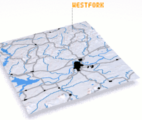 3d view of West Fork