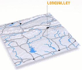 3d view of Lone Valley