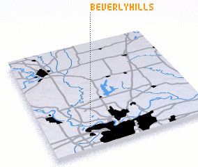 3d view of Beverly Hills