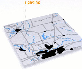3d view of Lansing