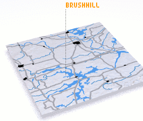 3d view of Brush Hill