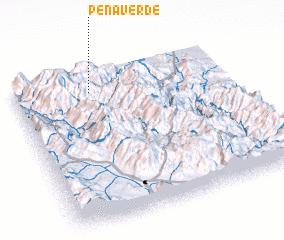 3d view of Peña Verde