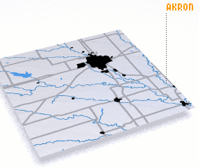 3d view of Akron