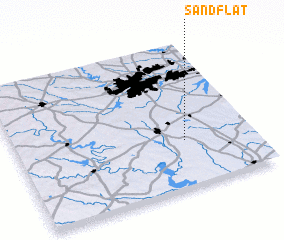 3d view of Sand Flat