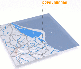 3d view of Arroyo Hondo