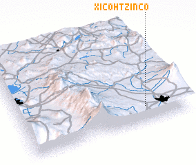 3d view of Xicohtzinco