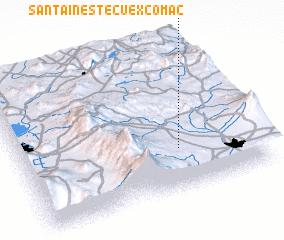 3d view of Santa Inés Tecuexcomac