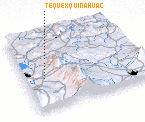 3d view of Tequexquinahuac