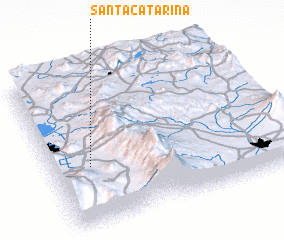 3d view of Santa Catarina