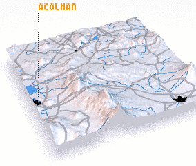 3d view of Acolman