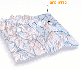 3d view of La Crucita