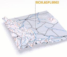 3d view of Nicolás Flores