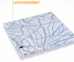 3d view of Loussous-Débat
