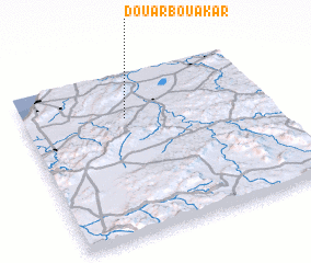 3d view of Douar Bou Akar
