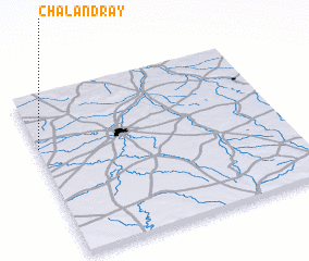 3d view of Chalandray