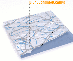 3d view of Vilallonga del Campo