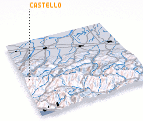 3d view of Castello