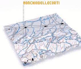 3d view of Monchio delle Corti