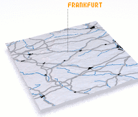 3d view of Frankfurt