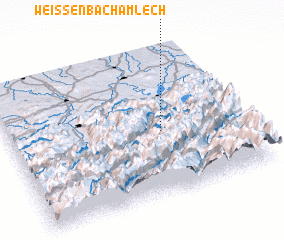 3d view of Weissenbach am Lech