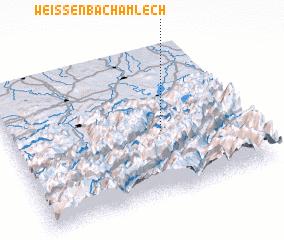 3d view of Weissenbach am Lech