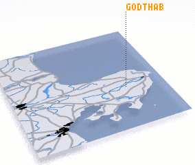 3d view of Godthåb