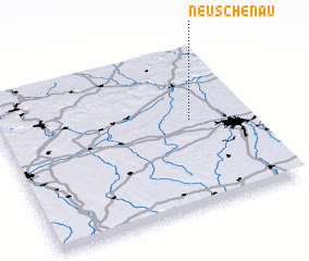 3d view of Neuschenau