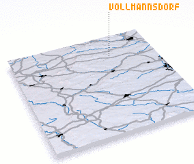 3d view of Vollmannsdorf
