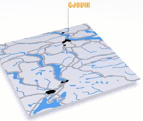 3d view of Gjøvik