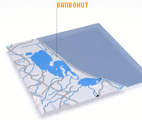 3d view of Ban Bo Hut