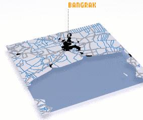 3d view of Bang Rak