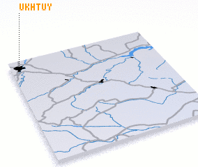 3d view of Ukhtuy