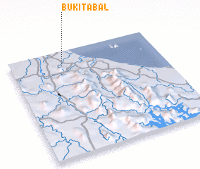 3d view of Bukit Abal
