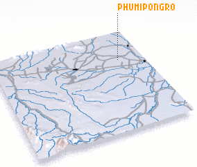 3d view of Phumĭ Pôngrô