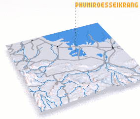 3d view of Phumĭ Rœssei Krăng