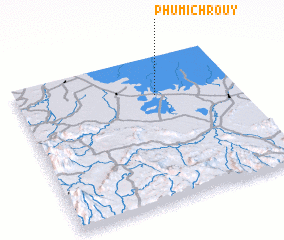 3d view of Phumĭ Chroŭy