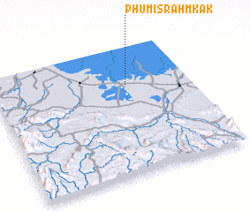 3d view of Phumĭ Srăh Mkăk