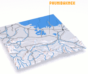 3d view of Phumĭ Băk Mêk
