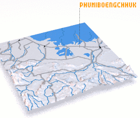 3d view of Phumĭ Bœ̆ng Chhuk
