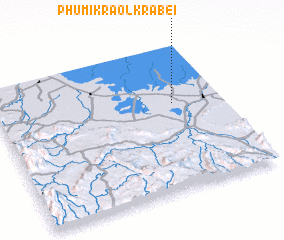 3d view of Phumĭ Kraôl Krâbei