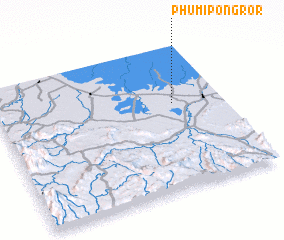 3d view of Phumĭ Pôngrôr